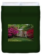 Bon Secour Pink Porch Duvet Cover