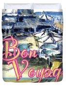 Bon Voyage Cruise Duvet Cover