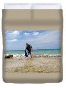 Bonaire Shore Diving 3 Duvet Cover