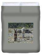 Bonaire Wild Donkeys 2 Duvet Cover