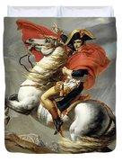 Bonaparte Crossing The Alps Duvet Cover