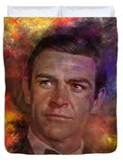 Bond - James Bond - Square Version Duvet Cover by John Robert Beck
