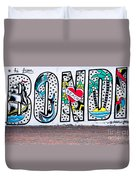 Bondi Beach Graffiti - Photograph By Kaye Menner Duvet Cover