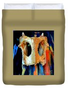 Bone And Paint Abstract Duvet Cover
