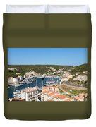 Bonifacio Harbor Duvet Cover