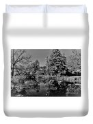 Bonneyville Grist Mill          Black And White        Autumn        Indiana Duvet Cover