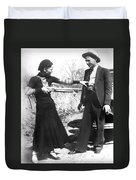 Bonnie And Clyde, 1933 Duvet Cover