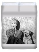 Bonnie Hunt And Charlie Duvet Cover