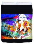 Bonnie Raitt Color Splash Duvet Cover