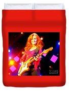 Bonnie Raitt In Concert Watercolor Duvet Cover