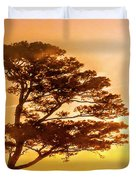 Bonsai Pine Sunrise Duvet Cover