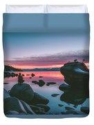 Bonsai Rock Sunset Duvet Cover