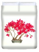 Bonsai Tree - Kurume Azalea Duvet Cover