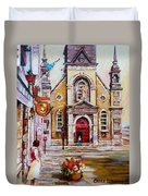 Bonsecours Church Duvet Cover
