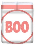 Boo Rubber Stamp Duvet Cover
