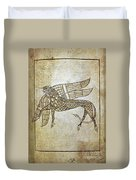 Book Of Durrow, C680 A.d Duvet Cover