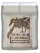Book Of Lindisfarne Initial Duvet Cover