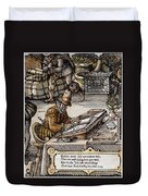 Bookkeeper, 16th Century Duvet Cover