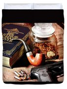 Books And Bullets Duvet Cover by Barry Jones