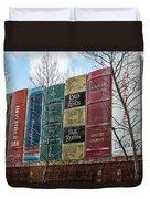 Books Plus Kansas City Duvet Cover