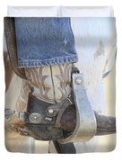 Boot And Spur Duvet Cover