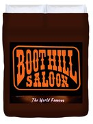 Boot Hill Saloon Sign Duvet Cover