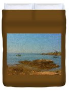 Boothbay Calm Day Ocean View Duvet Cover