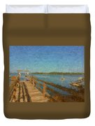 Boothbay Front Ocean View At Sunrise Duvet Cover