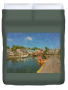 Boothbay Harbor At 5 Duvet Cover