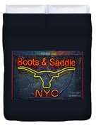 Boots And Saddle Nyc Duvet Cover