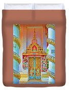 Bophut Temple In Thailand Duvet Cover