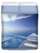 Bora Bora, Outrigger Duvet Cover