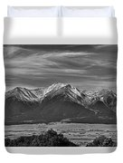 Boreas Mountain And Siblings Duvet Cover