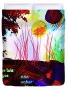 Borges Tlon Poster 2 Duvet Cover