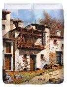 Borgo Di Montagna Duvet Cover