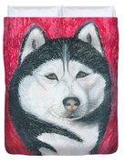 Boris The Siberian Husky Duvet Cover