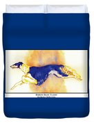 Borzoi Blue Flight Duvet Cover