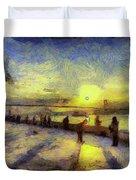 Bosphorus Sunset Art Duvet Cover
