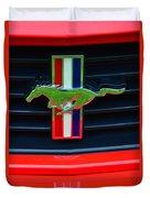 Boss 302 Ford Mustang Emblem Duvet Cover