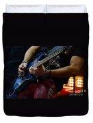 Boss Guitar Player Duvet Cover by Bob Christopher