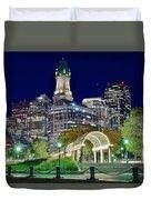 Boston Above Christopher Columbus Park Duvet Cover