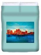 Boston Abstract Duvet Cover