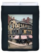 Boston: Bookshop, 1900 Duvet Cover