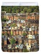 Boston Brownstone Architecture Duvet Cover