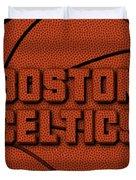 Boston Celtics Leather Art Duvet Cover