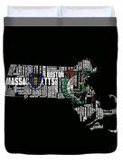 Boston Celtics Typographic Map Duvet Cover