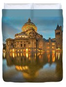 Boston Christian Science Building Reflecting Pool Duvet Cover