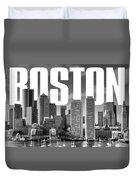 Boston Cityscape Duvet Cover