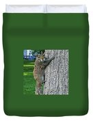 Boston Common Squirrel Hanging From A Tree Boston Ma Duvet Cover