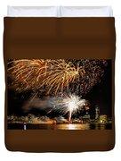 Boston Fireworks On The Charles Duvet Cover